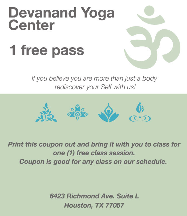 Devanand Yoga Houston Coupon